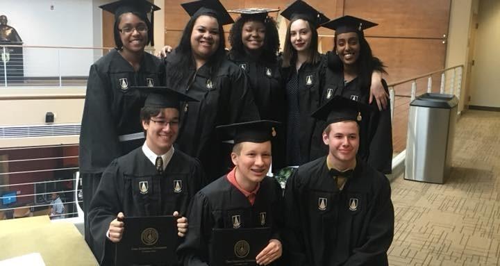 TCS@ODU students at ODU graduation