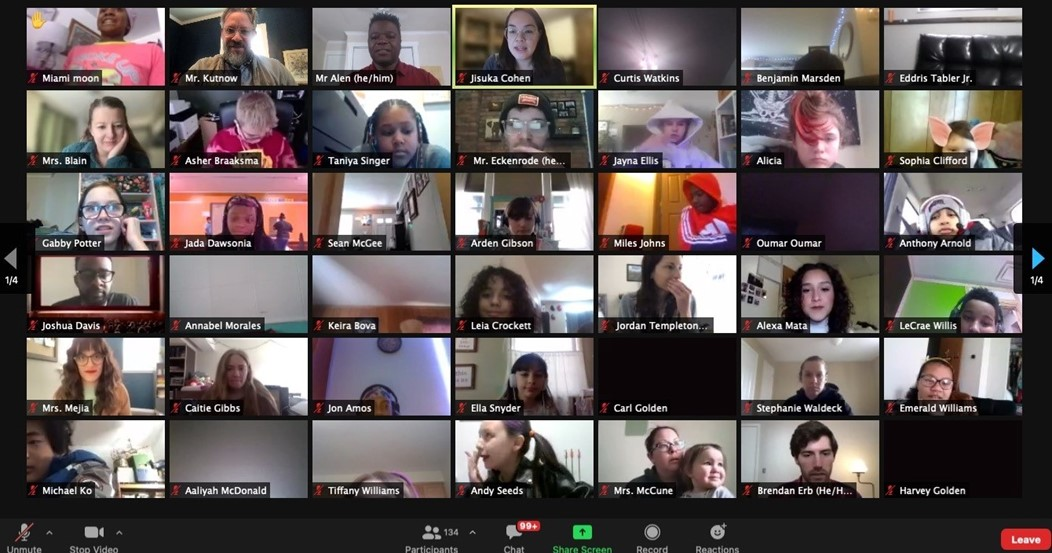 GEMS middle school students had their first Community Meeting of the year on Friday, February 12th. Students in grades 5-8 gathered via Zoom to play games, listen to announcements, hear who had the highest Hero points in the school, and listened to Mr. Alen's presentation on being a champion. It was a great turnout (with over 100 participants) and so much fun!