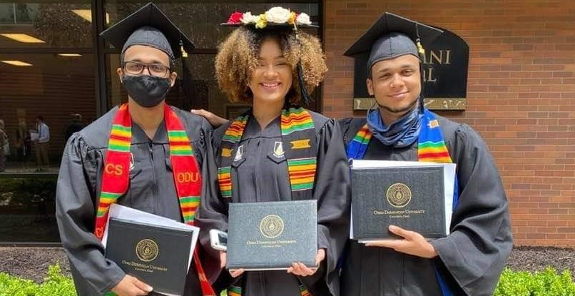 Congratulation to TCS@ODU students; Charis, Kameron, and Keenan for earning their Associates of Arts degree from Ohio Dominican University on Saturday, May 8!